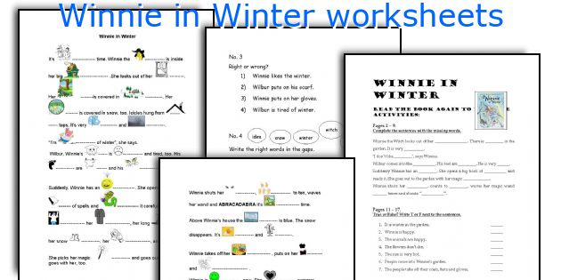 english teaching worksheets winnie in winter. Black Bedroom Furniture Sets. Home Design Ideas
