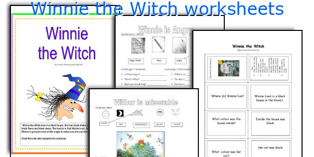 winnie the witch worksheets worksheets and activities for teaching ...