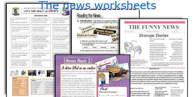 The news worksheets