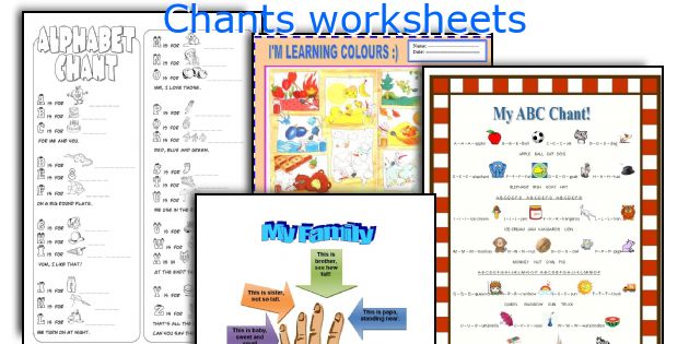 Chants worksheets