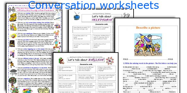 Conversation worksheets