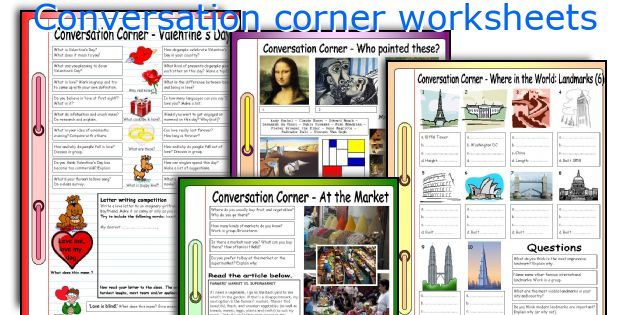 Conversation corner worksheets