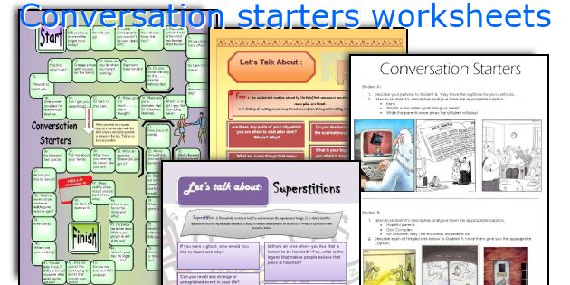 Conversation starters worksheets