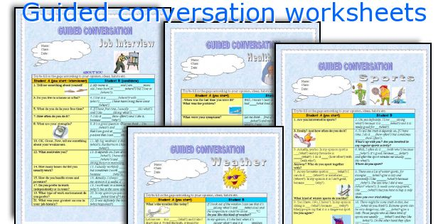 Guided conversation worksheets