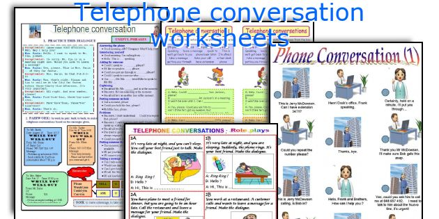 telephone conversation worksheets worksheets and activities for ...