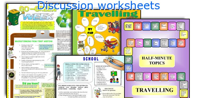 Discussion worksheets