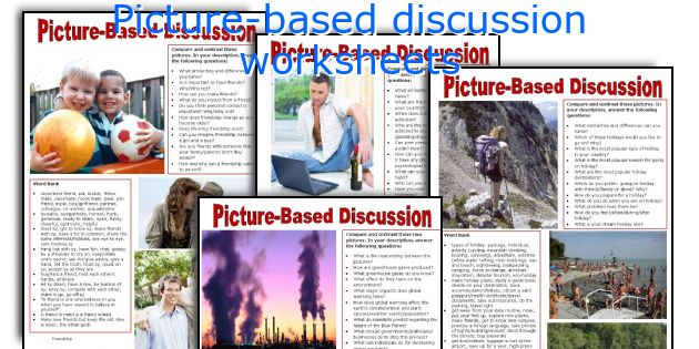 Picture-based discussion worksheets