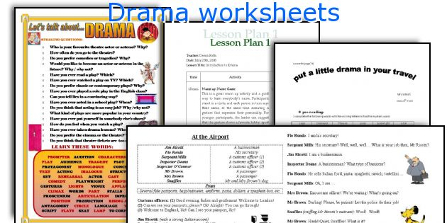 photo about Free Printable Drama Worksheets called Drama worksheets