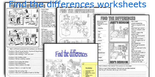 Find the differences worksheets