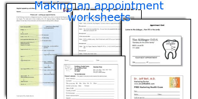 Making an appointment worksheets