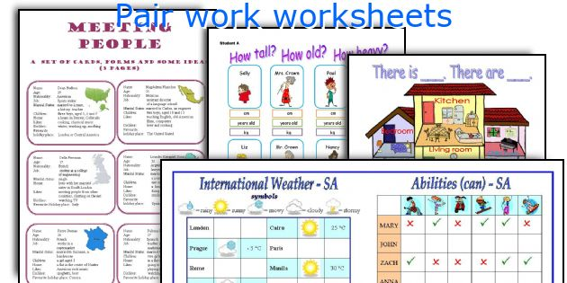 English teaching worksheets Pair work – Worksheets That Work