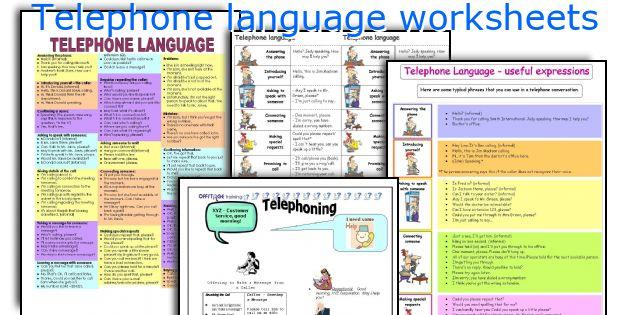 Telephone language worksheets