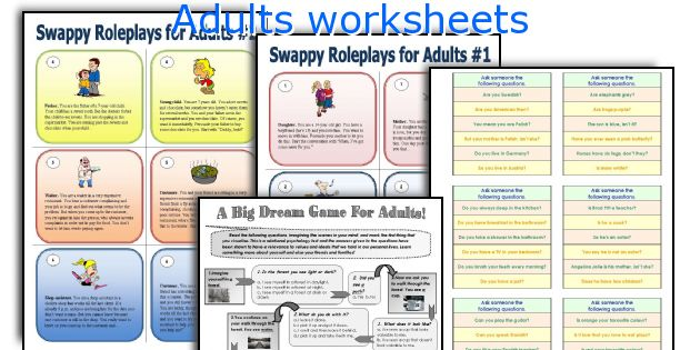 Adults worksheets