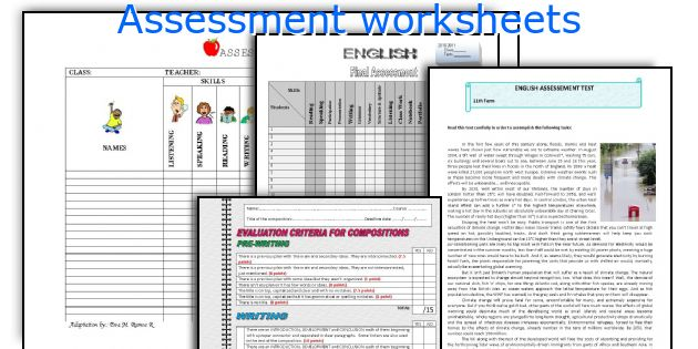 Assessment worksheets