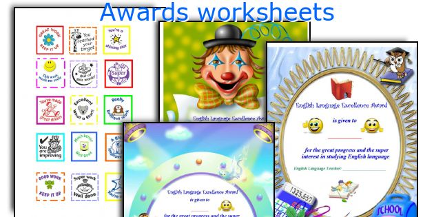 Awards worksheets