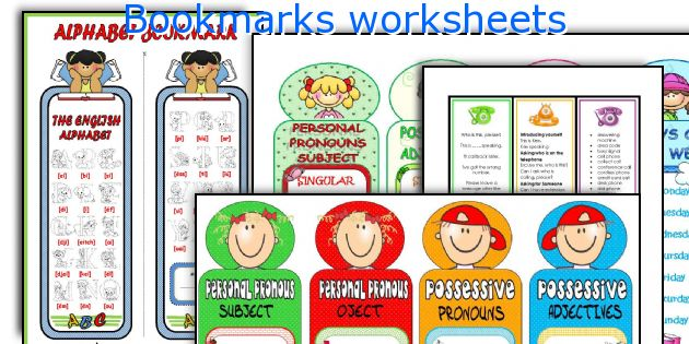 Bookmarks worksheets