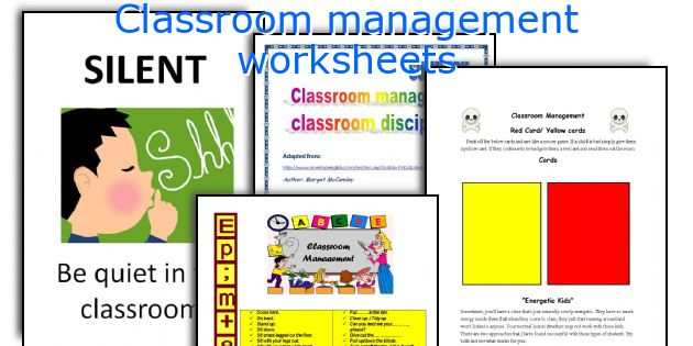 Classroom management worksheets