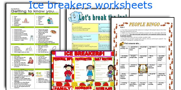 Ice breakers worksheets