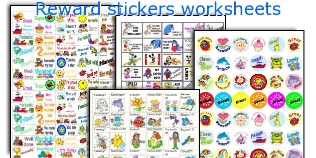 Reward stickers worksheets