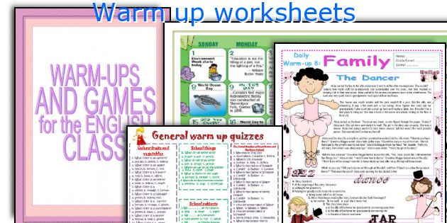Classroom Warm Up Ideas ~ Warm up for high school english activities