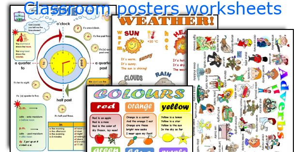 Classroom posters worksheets