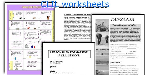 CLIL worksheets