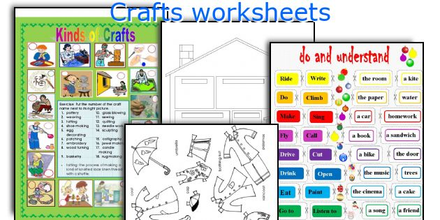 Crafts worksheets