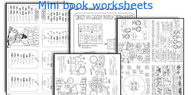 Mini book worksheets