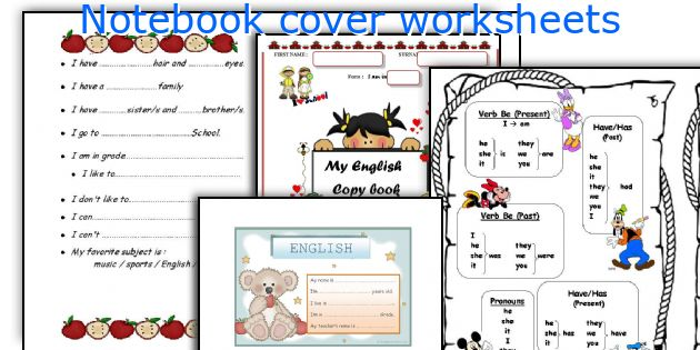 Notebook cover worksheets