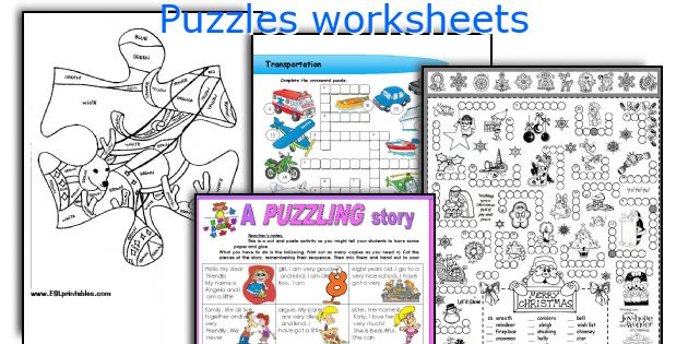Puzzles worksheets