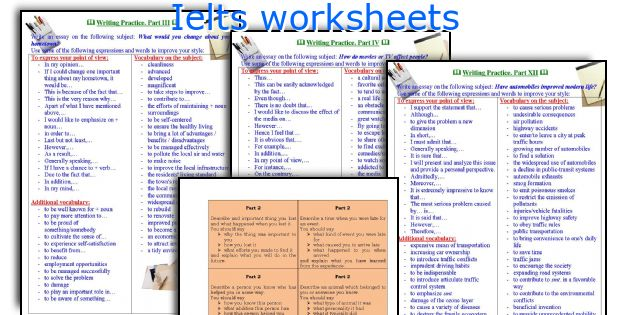 Ielts worksheets