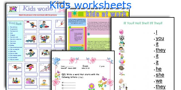 Kids worksheets