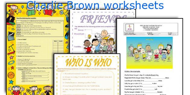 Charlie Brown worksheets