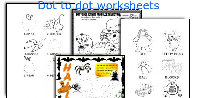 Dot To Dot Worksheets Elementary : English teaching worksheets dot to