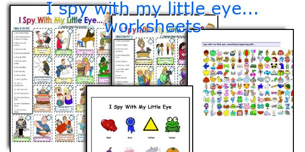 English teaching worksheets I spy with my little eye – I Spy Worksheets