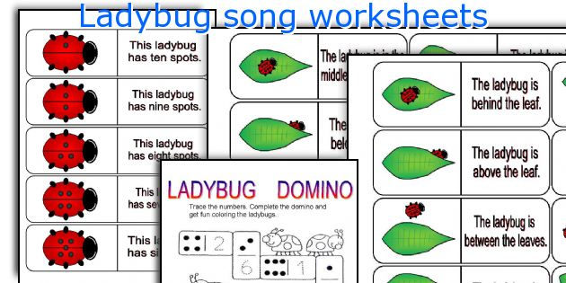 Ladybug song worksheets