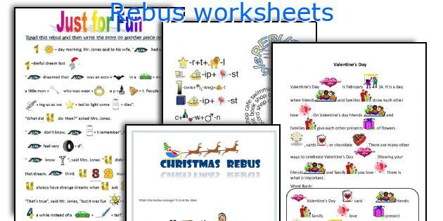 English teaching worksheets Rebus – Rebus Worksheet