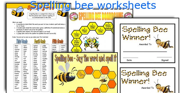 Spelling bee worksheets