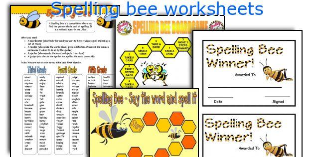 English teaching worksheets: Spelling bee