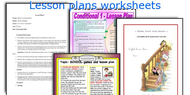 Lesson plans worksheets