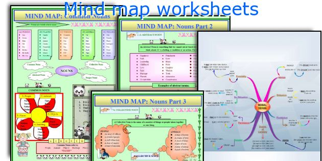 Mind map worksheets