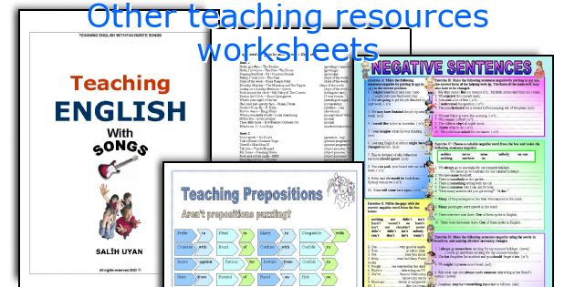 Other teaching resources worksheets