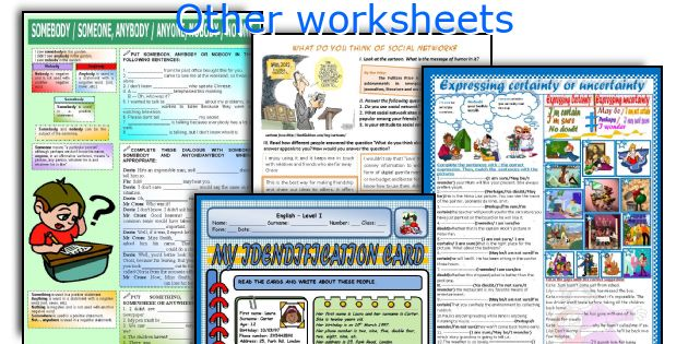 Other worksheets