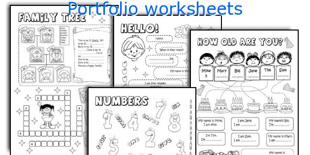 Portfolio worksheets