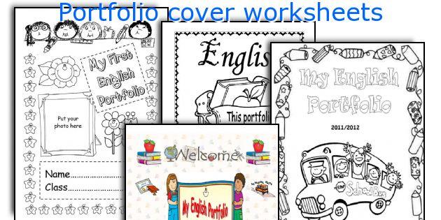 Book Cover Typography Worksheet : Portfolio cover worksheets