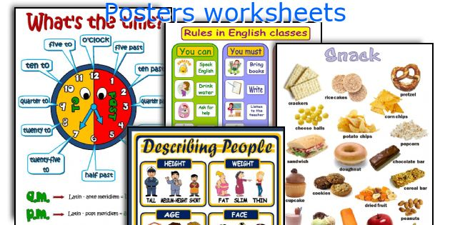 Posters worksheets