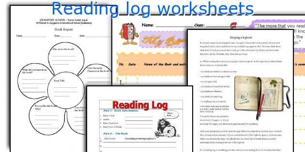 Reading log worksheets