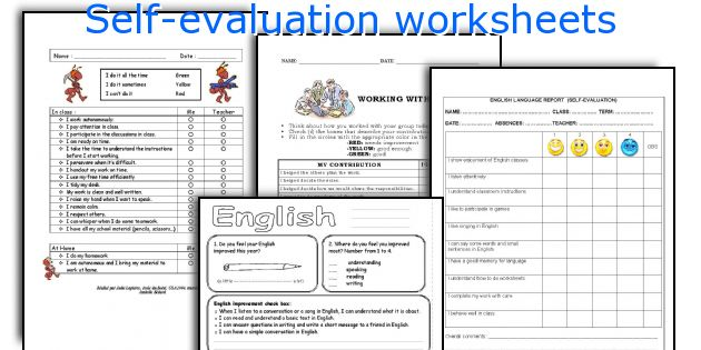 Self-evaluation worksheets