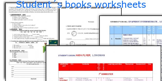 Student´s books worksheets