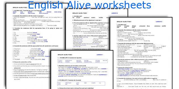 English Alive worksheets